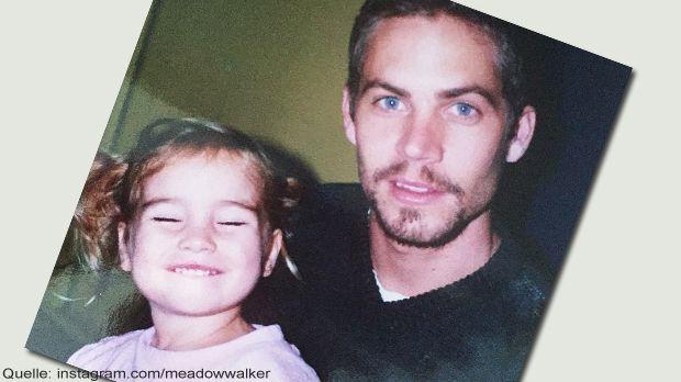 Meadow Walker mit ihrem Papa Paul Walker - Bildquelle: Instagram.com/meadowwalker