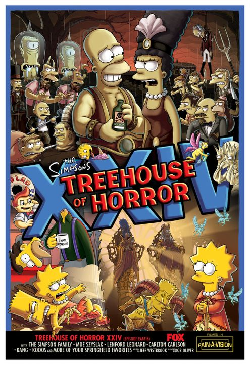 Treehouse of Horror XXIV - Plakatmotiv - Bildquelle: 2013 Twentieth Century Fox Film Corporation. All rights reserved.