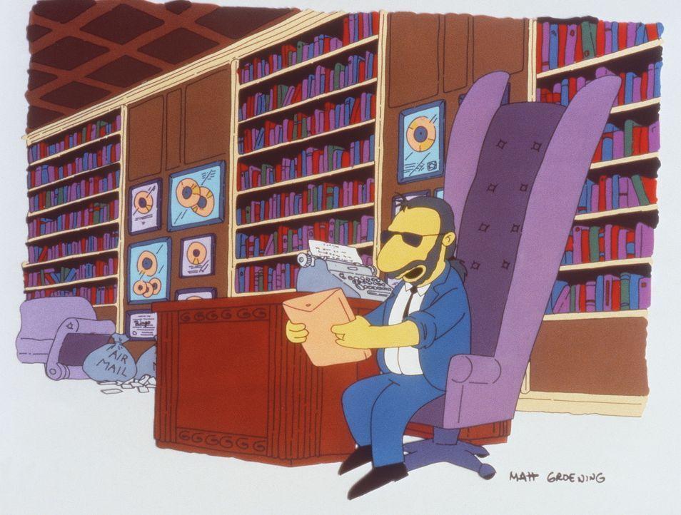 Ringo Starr ist völlig begeistert von Marges  Zeichentalent. Ihr Porträt des rundlichen Homer gewinnt soger den ersten Preis der Kunstausstellung vo... - Bildquelle: und TM Twenthieth Century Fox Film Corporation - Alle Rechte vorbehalten