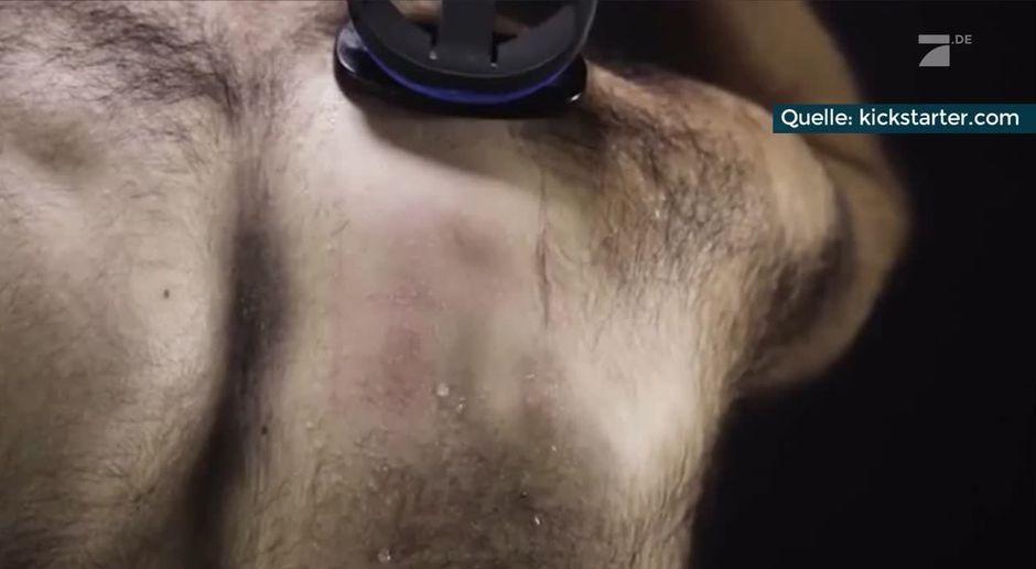 Rücken rasieren frau
