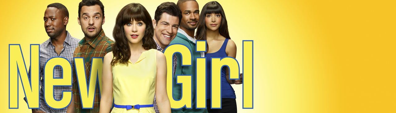 (4. Staffel) - Cece (Hannah Simone, r.), Coach (Damon Wayans Jr., 2.v.r.), Schmidt (Max Greenfield, 3.v.r.), Nick (Jake Johnson, 2.v.l.) und Winston... - Bildquelle: 2014 Twentieth Century Fox Film Corporation. All rights reserved.