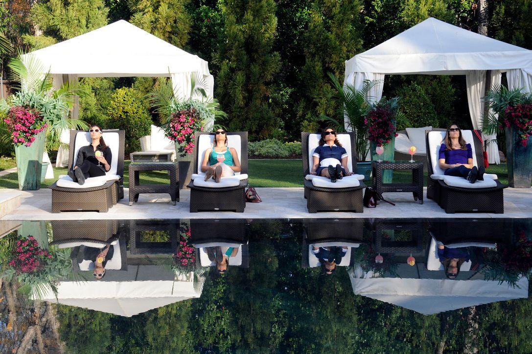 Da Alejandro und Odessa nicht da sind, lädt Carmen (Roselyn Sanchez, l.) zu Sams Entsetzen ihre Freundinnen an den Pool ein: Marisol (Ana Ortiz, r.)... - Bildquelle: ABC Studios