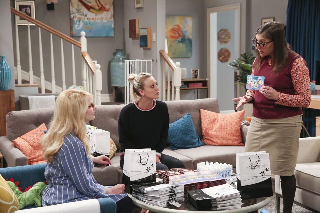 Treffen die letzten Hochzeitsvorbereitungen: (v.l.n.r.) Bernadette (Melissa Rauch), Penny (Kaley Cuoco) und Amy (Mayim Bialik) ... - Bildquelle: Warner Bros. Television