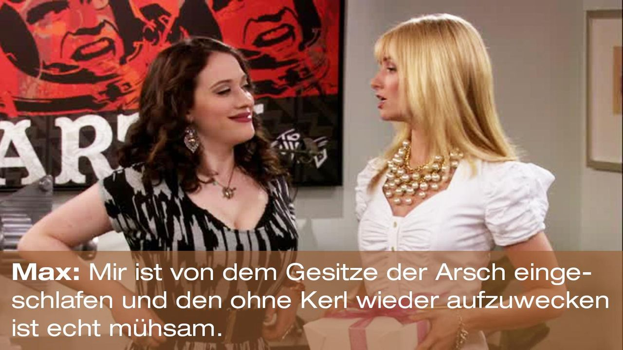 2-broke-girls-zitat-staffel1-episode-23-ballkoeniginnen-teil-1-max-arsch-eingeschlafen-warnerpng 1600 x 900 - Bildquelle: Warner Brothers Entertainment Inc.