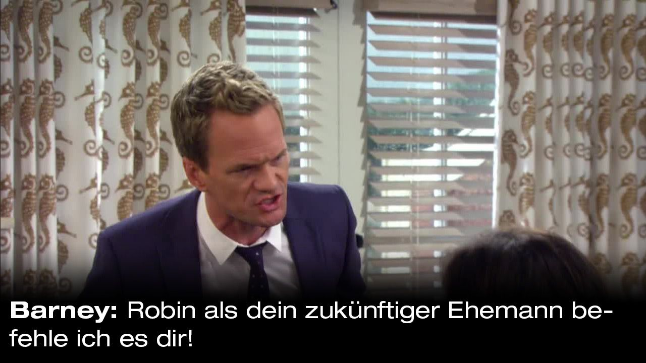 How-I-Met-Your-Mother-Zitate-Staffel-9-26-Barney-befiehlt - Bildquelle: 20th Century Fox Film Corporation all rights reserved.