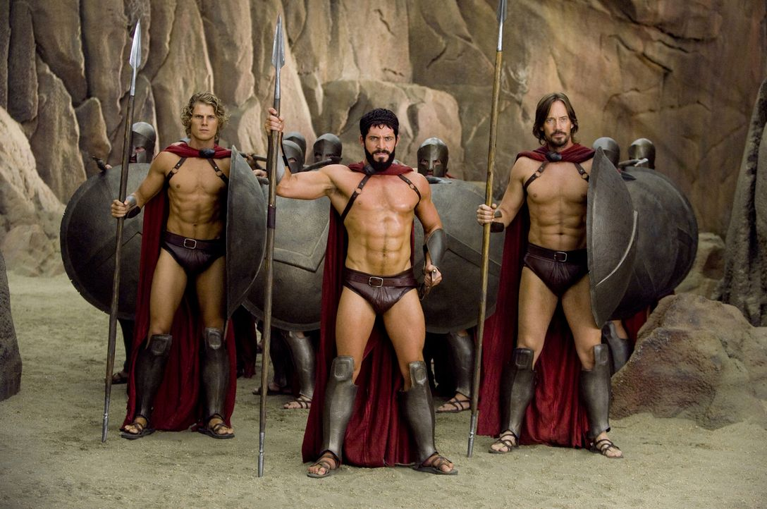 Sonio (Travis Van Winkle, l.); Leonidas (Sean Maguire, M.); Captain (Kevin Sorbo, r.) - Bildquelle: Doug Hyun 2008 Twentieth Century Fox Corporation. All rights reserved. Not for sale or duplication.