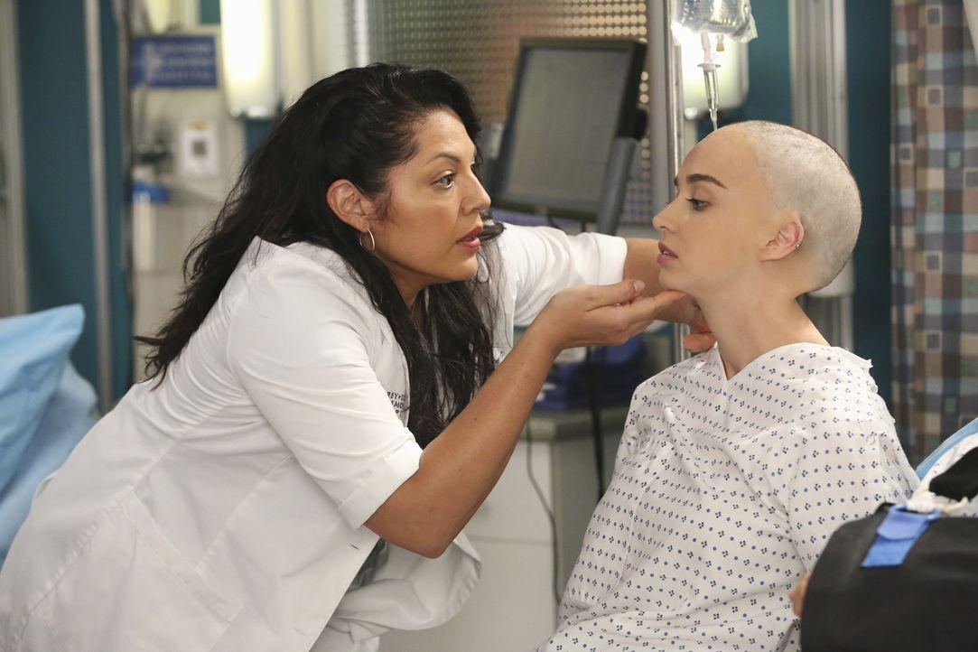 Das Glück hält nicht lange an: Der Zustand der scheinbar unverletzten Monica (Liebe Barer, r.) verschlechtert sich drastisch. Callie (Sara Ramirez,... - Bildquelle: ABC Studios