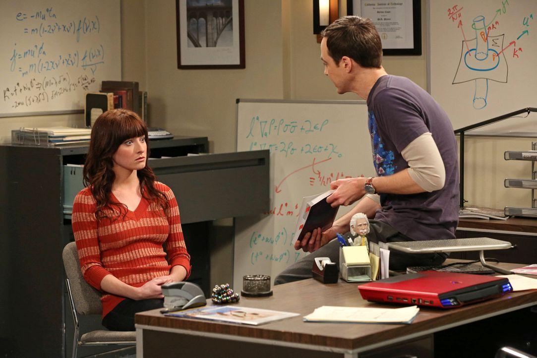 Ein Gespräch zwischen Alex (Margo Harshman, l.) und Sheldon (Jim Parsons, r.) bringt Sheldon große Probleme ein ... - Bildquelle: Warner Bros. Television