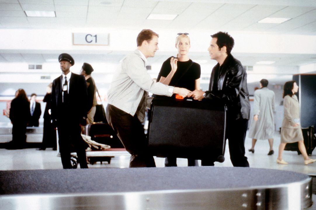 """""""Gott wollte angeben, als er Dich erschaffen hat!"""" Für die beiden Freunde Jake (Ben Stiller, r.) und Brian (Edward Norton, l.) ist Anna (Jenna Elfm... - Bildquelle: SPYGLASS ENTERTAINMENT GROUP, LP"""