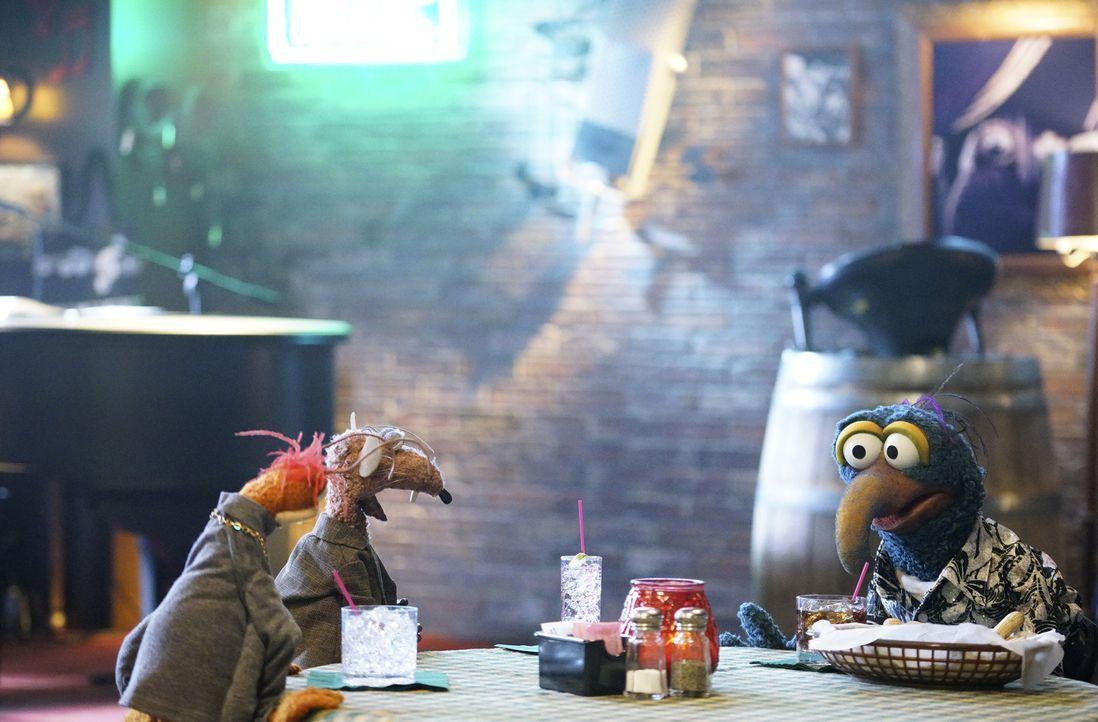 Gonzo (r.) hat ein Date, doch er hat Angst, etwas falsch zu machen. Pepe (l.) und Rizzo (M.) stehen ihm bei ... - Bildquelle: Adam Taylor ABC Studios