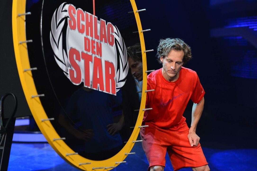 """Stabhochspringer Tim Lobinger stellt sich in """"Schlag den Star"""" im Duell aus bis zu neun Spielen seinem Herausforderer ... - Bildquelle: Willi Weber ProSieben"""