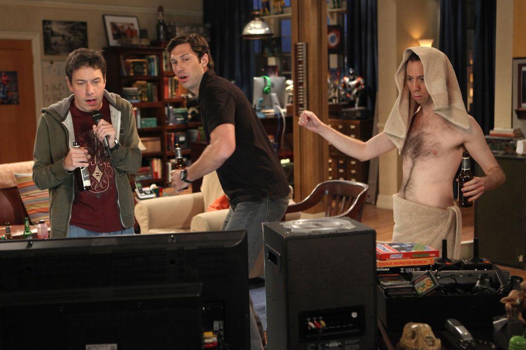 Als Sheldon (Jim Parsons, r.) feststellt, dass nicht er der Mittelpunkt der Freunde ist, sondern Leonard (Johnny Galecki, l.), sucht er sich neue Fr... - Bildquelle: Warner Bros. Television