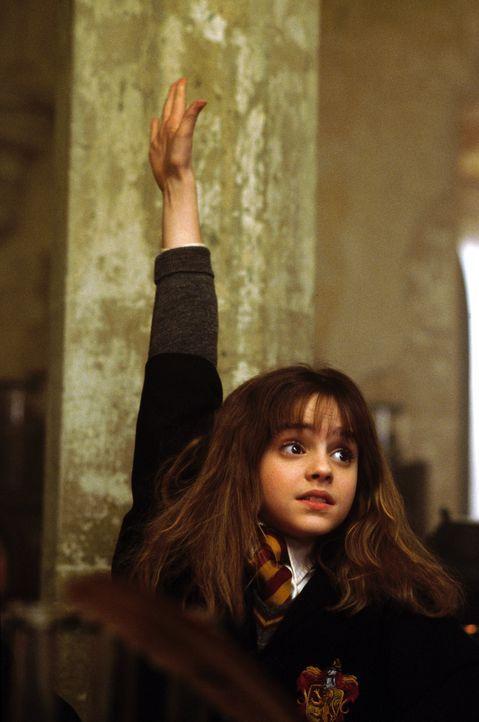 Musterschülerin Hermione Granger (Emma Watson) muss immer die Erste, Schnellste und Beste sein ... - Bildquelle: Warner Bros. Pictures
