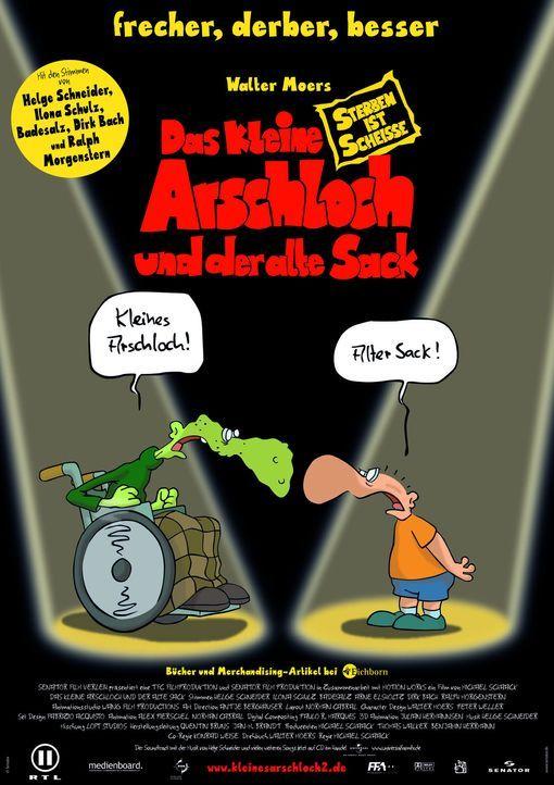 """Plakatmotiv zu """"Das kleine Arschloch und der alte Sack"""". - Bildquelle: 2006 Senator Film"""