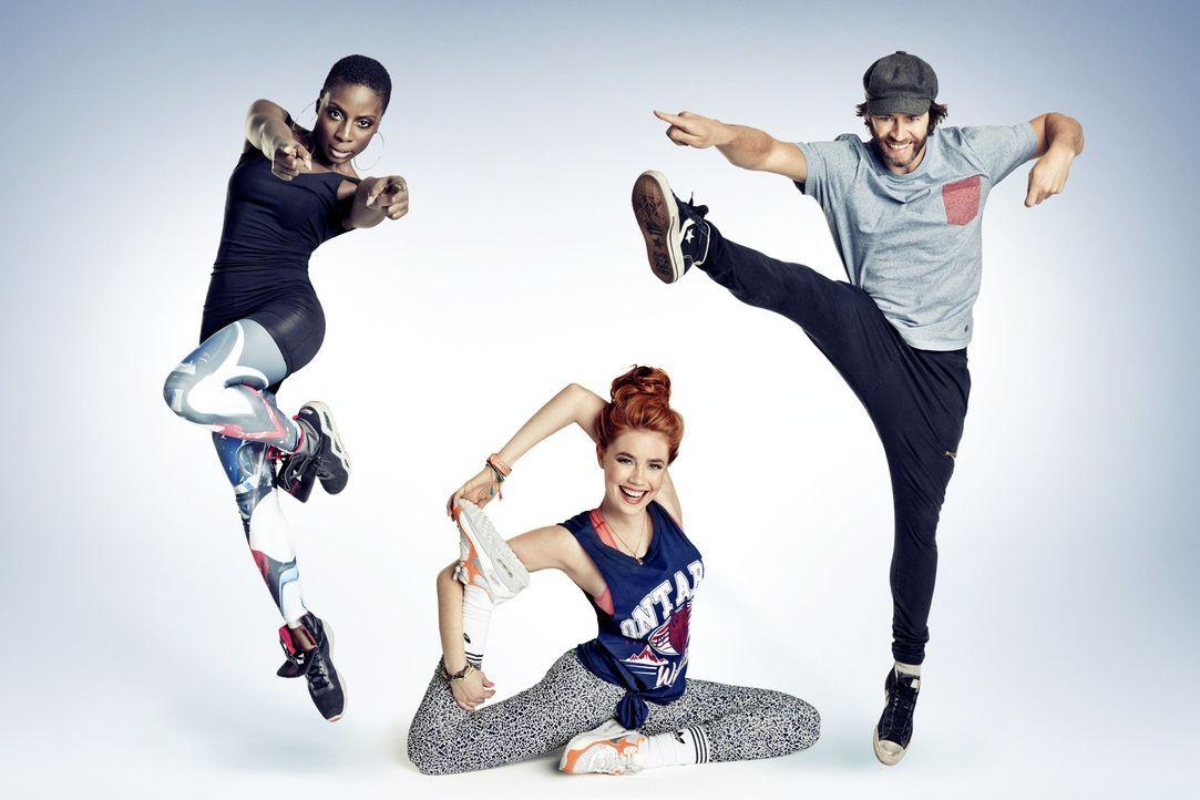 """Welche Acts rocken bei """"Got to Dance"""" die Bühne? Die Juroren Palina Rojinski (M.), Howard Donald (r.) und Nikeata Thompson (l.) haben die Qual der... - Bildquelle: Frank Zauritz SAT.1/ProSieben"""