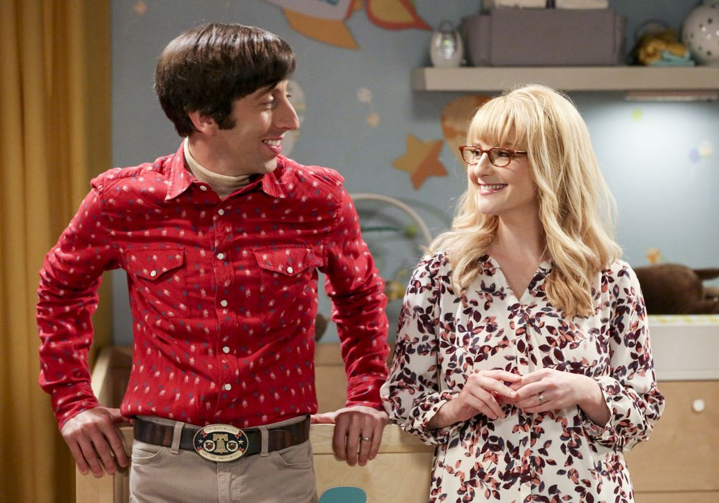 Howard Wolowitz (Simon Helberg, l.); Bernadette (Melissa Rauch, r.) - Bildquelle: Michael Yarish 2019 CBS Broadcasting, Inc. All Rights Reserved / Michael Yarish
