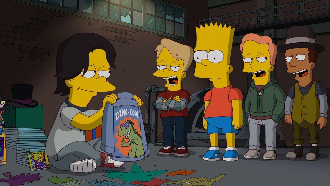 Probleme stehen bevor, denn Bart (M.) findet T-Rex (l.) und die anderen Jungs nicht wirklich cool ... - Bildquelle: und TM Twentieth Century Fox Film Corporation - Alle Rechte vorbehalten