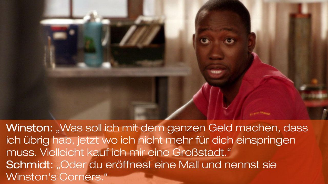 New Girl - Zitate - Staffel 1 Folge 24: Winston (Lamorne Morris) - Bildquelle: 20th Century Fox