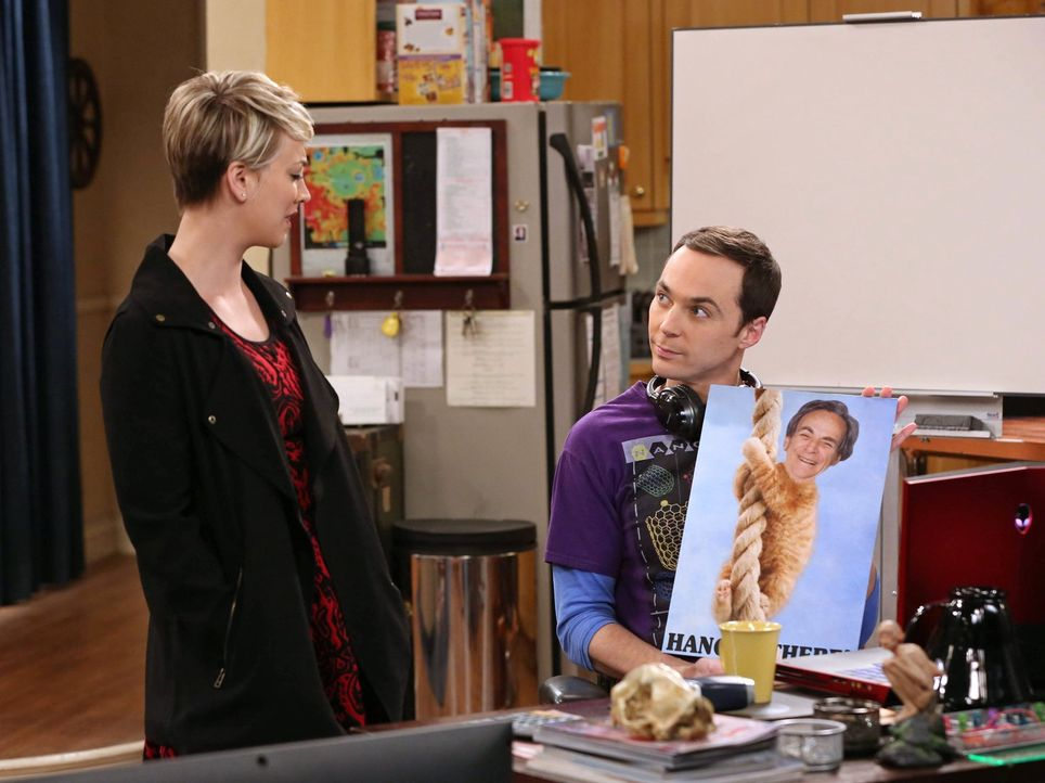 Sheldon (Jim Parsons, r.) schafft es erneut, Penny (Kaley Cuoco, l.) an den Rand der Verzweiflung zu bringen ... - Bildquelle: Warner Bros. Television