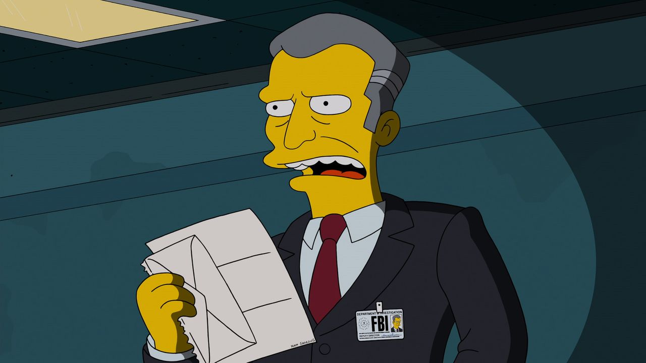 Hat sich den Kampf gegen die Internet-Piraterie auf die Fahnen geschrieben und eröffnet die Jagd auf Homer Simpson: Detective Gratman vom FBI ... - Bildquelle: 2013 Twentieth Century Fox Film Corporation. All rights reserved.