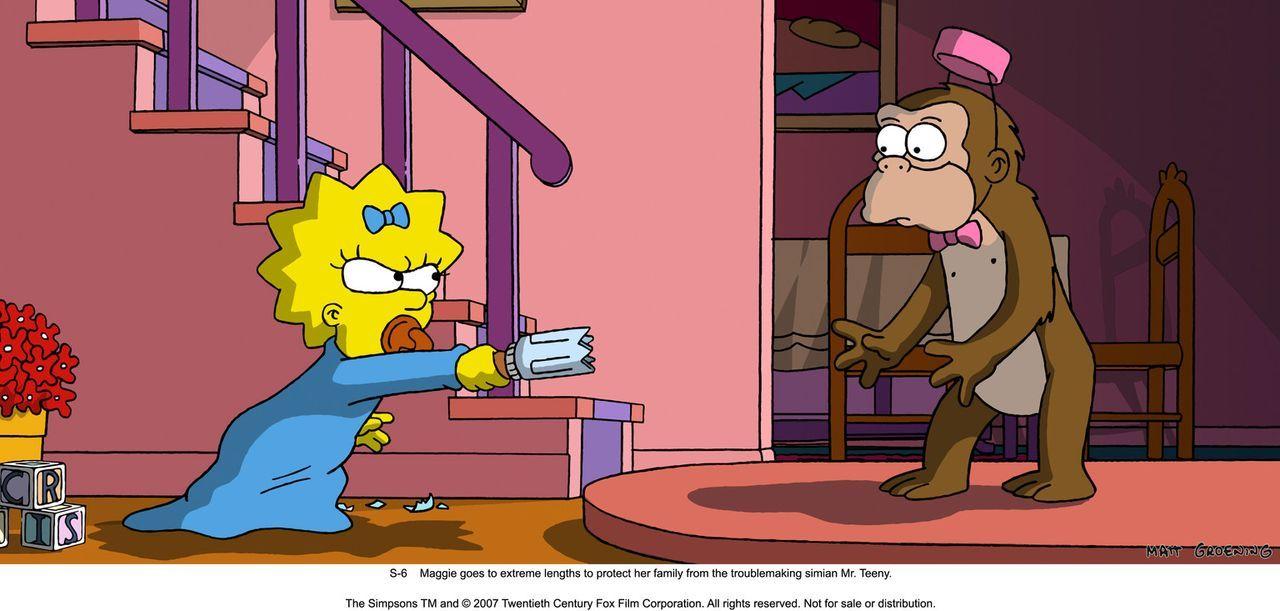 Mr. Teeney, der Affe (r.), ist im Visier von Klein-Maggie (l.) ... - Bildquelle: 2007 Twentieth Century Fox Film Corporation