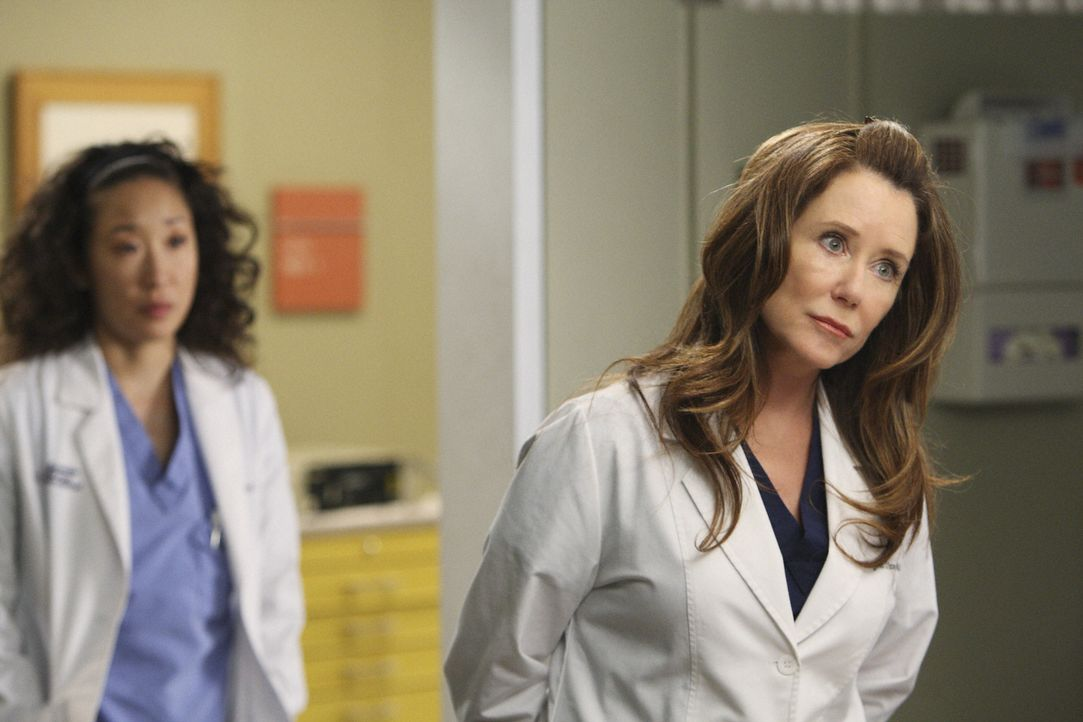 Cristina (Sandra Oh, l.) soll den ganzen Tag mit Dr. Virginia Dixon (Mary McDonnell, r.) verbringen und diese beeindrucken, damit Virginia endgültig... - Bildquelle: Craig Sjodin 2008 American Broadcasting Companies, Inc. All rights reserved. / Craig Sjodin