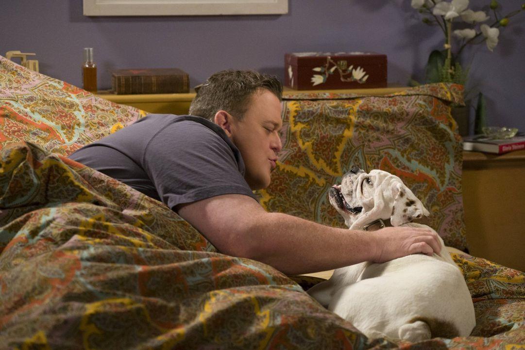 Mike (Billy Gardell) entdeckt bei einer Festnahme in der Wohnung der Verdächtigen einen Hund und will eine Zeit lang auf ihn aufpassen. Doch Molly p... - Bildquelle: Warner Brothers