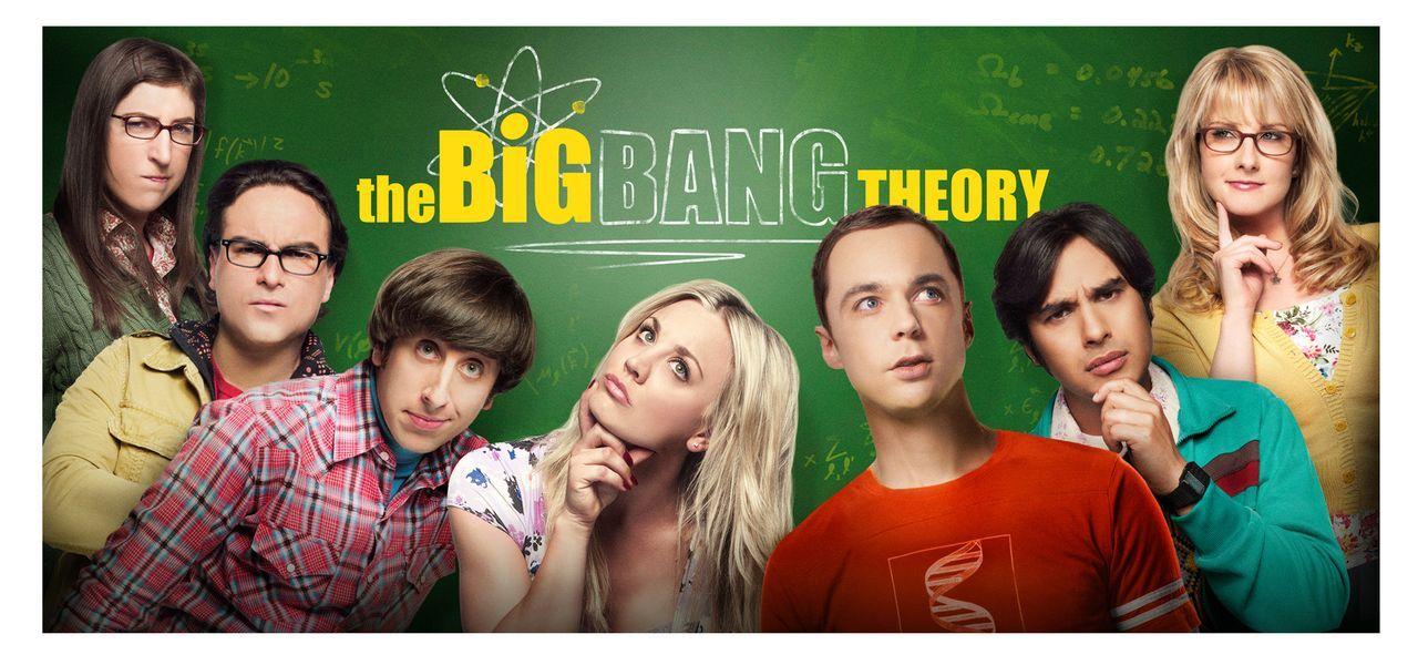 (8. Staffel) - The Big Bang Theory: Bernadette (Melissa Rauch, r.), Howard (Simon Helberg, 3.v.l.), Amy (Mayim Bialik, l.), Sheldon (Jim Parsons, 3.... - Bildquelle: Warner Bros. Television