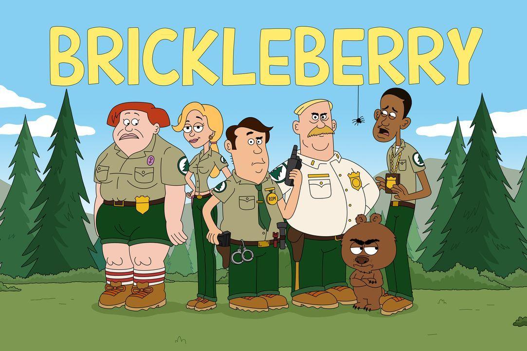 (1. Staffel) - Erleben aufregende Abenteuer im Brickleberry Nationalpark (v.l.n.r.): Connie, Ethel, Steve, Woody, Malloy und Denzel - Bildquelle: 2012 Twentieth Century Fox Film Corporation and Comedy Partners. All rights reserved.