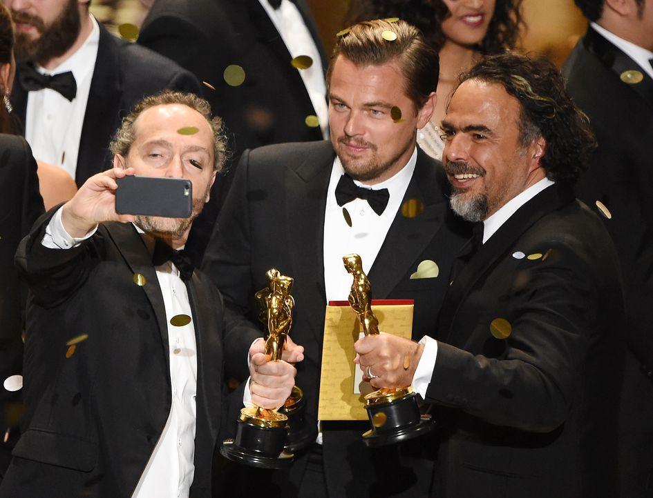 oscars-2016-Lubezki-DiCaprio-Inarritu-AFP - Bildquelle: AFP