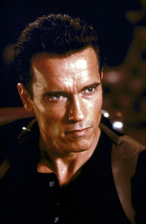Als urplötzlich eine unerklärliche Mordserie unter seinen Kronzeugen einsetzt, soll John (Arnold Schwarzenegger) den Aufenthaltsort seiner noch lebe... - Bildquelle: Warner Brothers International Television Distribution Inc.