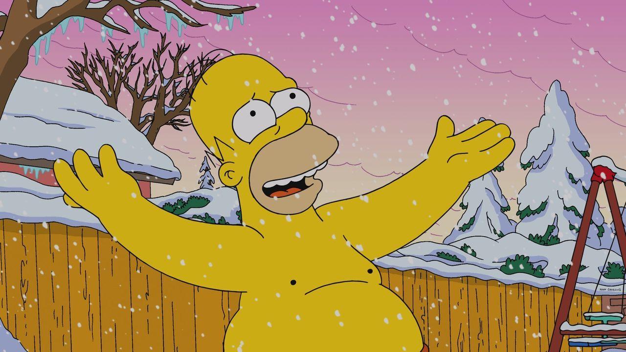 Grandiose Idee: Homer Simpson beschließt angesichts des weihnachtlichen Wetters in Springfield, Zimmer an White Christmas-Touristen zu vermieten - e... - Bildquelle: 2013 Twentieth Century Fox Film Corporation. All rights reserved.