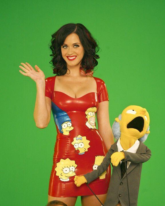 Die sexy Sängerin Katy Perry (l.) zieht Mr. Burns (r.) in ihren Bann. - Bildquelle: und TM Twentieth Century Fox Film Corporation - Alle Rechte vorbehalten