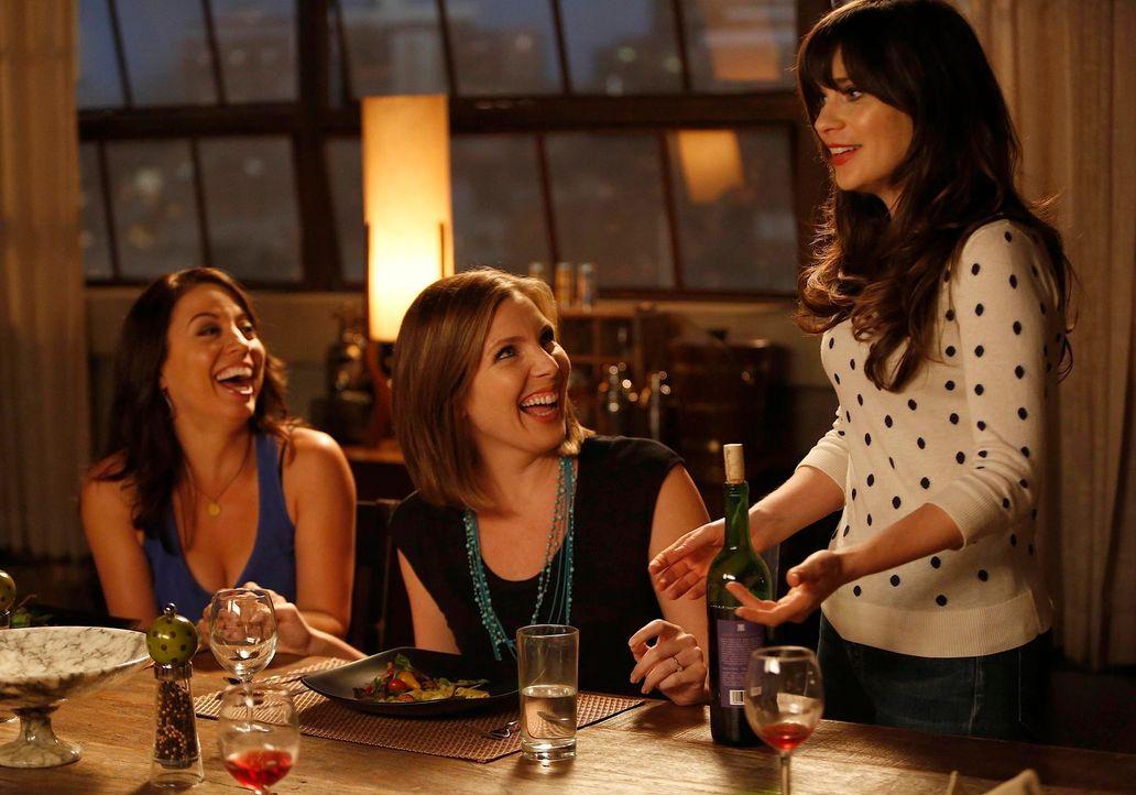 Ein Abend der besonderen Art: Jess (Zooey Deschanel, r.), Sadie (June Diane Raphael, M.) und Melissa (Kay Cannon, l.) ... - Bildquelle: 20th Century Fox
