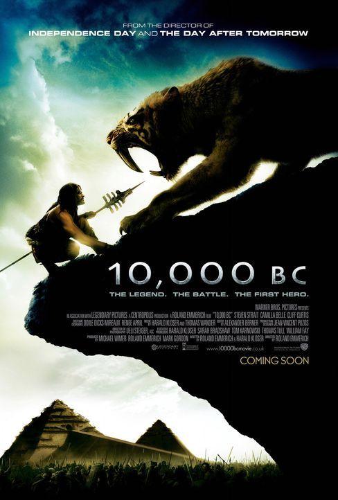10.000 BC - Plakatmotiv: 10.000 vor Christus: Der junge Jäger D'Leh (Steven Strait) will das Herz seiner Angebeteten erobern, die jedoch plötzlich... - Bildquelle: Warner Brothers