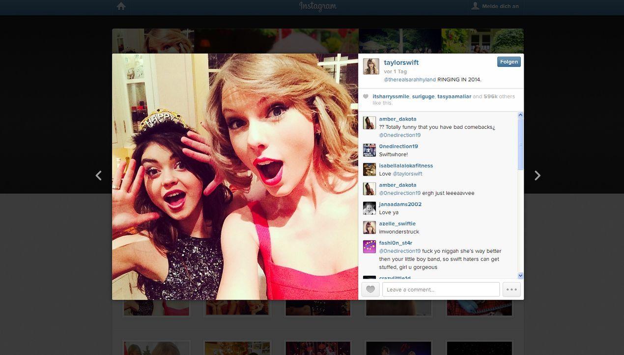 Neujahr2014-Taylor-Swift-instagram-com-Taylor-Swif - Bildquelle: instagram.com / Taylor Swift