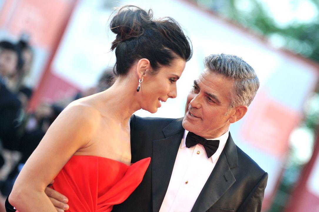 Filmfestival Venedig: Sandra Bullock und George Clooney - Bildquelle: AFP