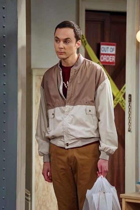 Glaubt, dass Penny ihren Freund Leonard betrügt: Sheldon (Jim Parsons) ... - Bildquelle: Warner Bros. Television