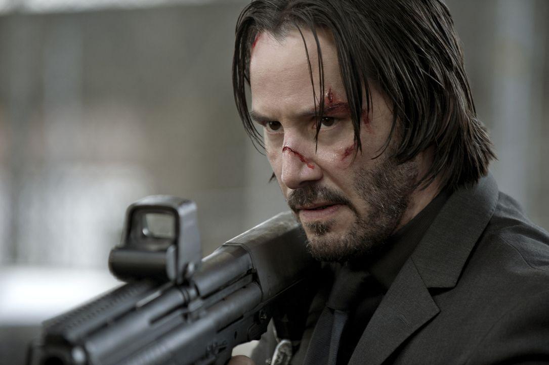 John Wick (Keanu Reeves) eilt ein Ruf voraus, der alle bösen Buben schon bei der Erwähnung seines Namens angst und bange werden lässt. Für den Totsc... - Bildquelle: 2014 SUMMIT ENTERTAINMENT, LLC. ALL RIGHTS RESERVED.