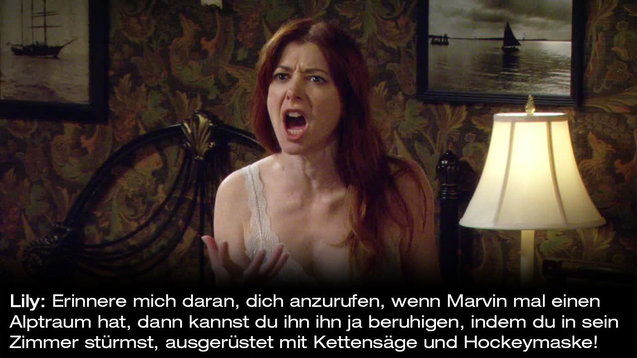 How-I-Met-Your-Mother-Zitate-Staffel-9-31-Lily-Maske