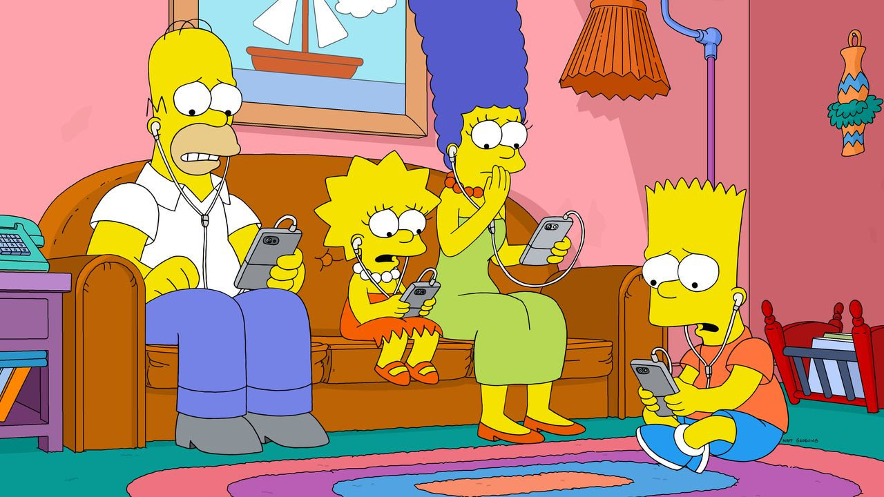 (v.l.n.r.) Homer; Lisa; Marge; Bart - Bildquelle: 2020 by Twentieth Century Fox Film Corporation.