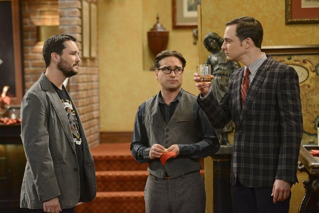 Noch ahnt niemand, was gleich passieren wird: Wil Wheaton (Wil Wheaton, l.), Sheldon (Jim Parsons, r.) und Leonard (Johnny Galecki, M.) ... - Bildquelle: Warner Bros. Television
