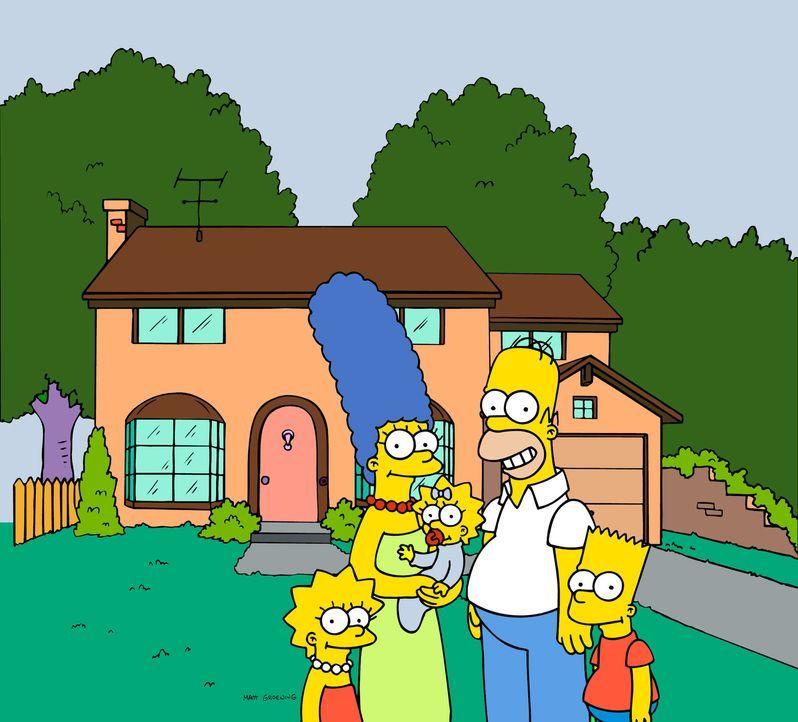 (17. Staffel) - Gemeinsam ist die Familie Simpsons unschlagbar: Lisa (l.), Homer (2.v.r.), Bart (r.), Marge (2.v.l.) und Maggie (M.). - Bildquelle: und TM Twentieth Century Fox Film Corporation - Alle Rechte vorbehalten
