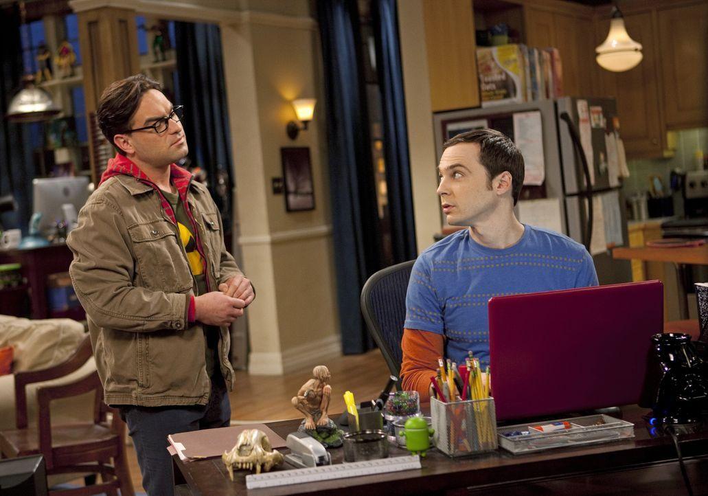 Leonard Hofstadter (Johnny Galecki, l.); Sheldon Cooper (Jim Parsons, r.) - Bildquelle: Justina Mintz 2011 CBS Broadcasting Inc. All Rights Reserved / Justina Mintz