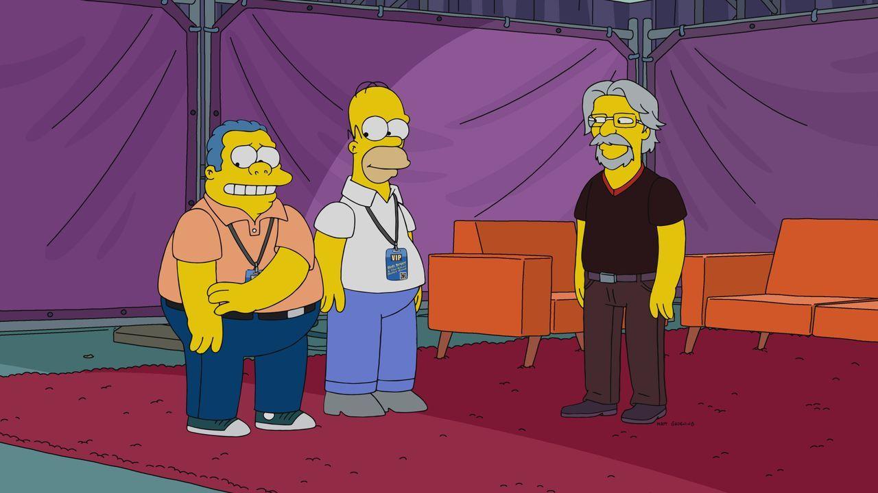 (v.l.n.r.) Clancy Wiggum; Homer; Bob Seger - Bildquelle: 2021 by 20th Television.