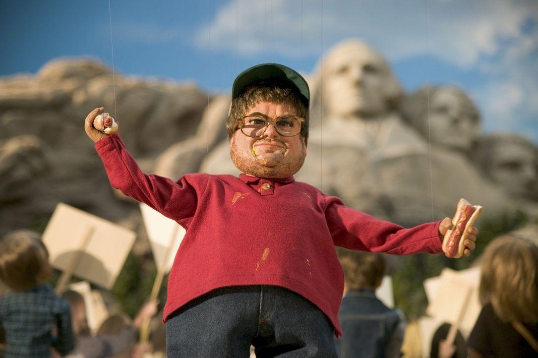 Gemeinsam mit dem Hauptquartiers des Teams Americas sprengt sich Michael Moore in die Luft ... - Bildquelle: Paramount Pictures