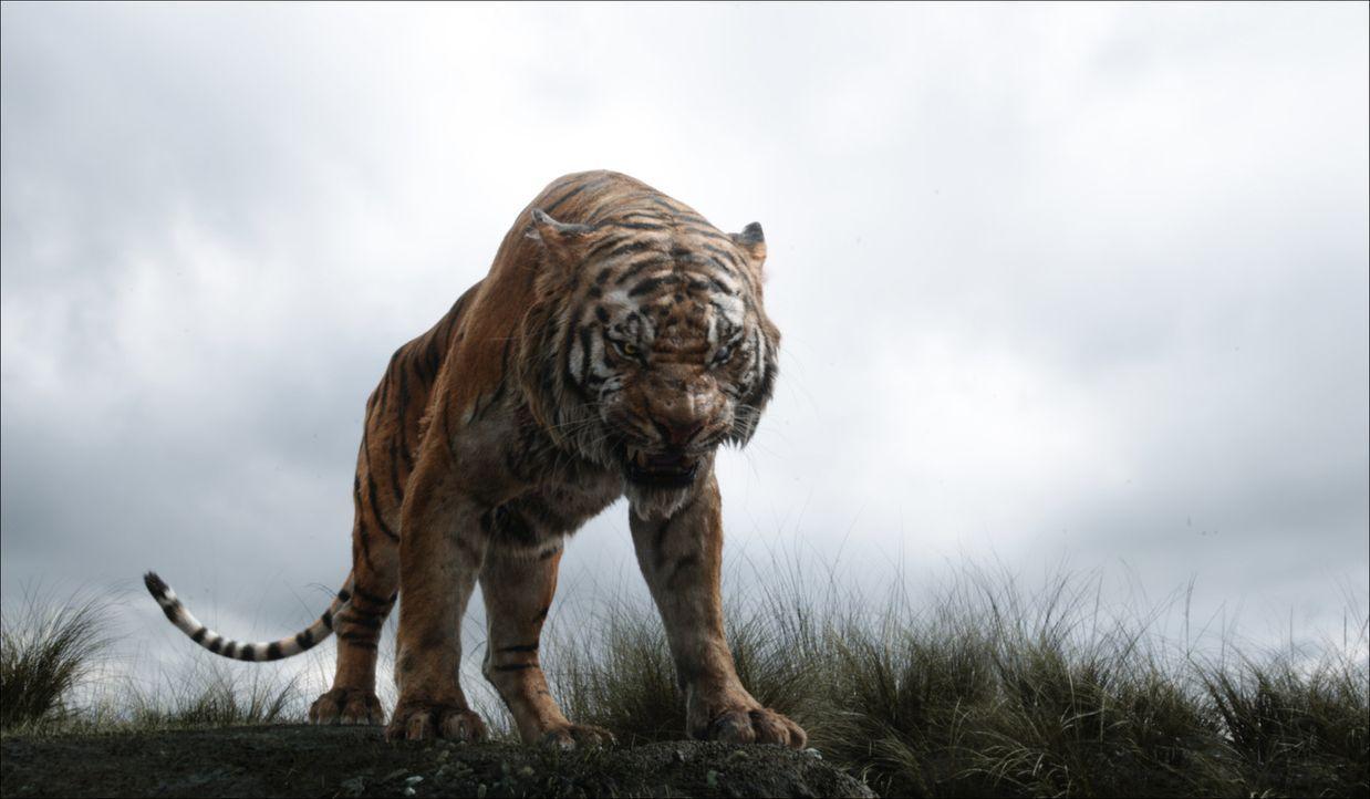 Nachdem der Tiger Shir Khan nur schlechte Erfahrungen mit Menschen gemacht hat, tut er alles, um Mogli aus dem Dschungel zu vertreiben ... - Bildquelle: Disney Enterprises, Inc. All Rights Reserved.