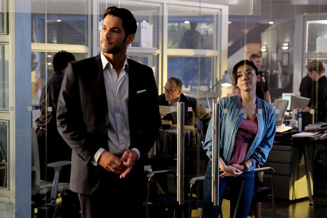 Lucifer (Tom Ellis, l.); Ella (Aimee Garcia, r.) - Bildquelle: 2017 Fox Broadcasting Co.