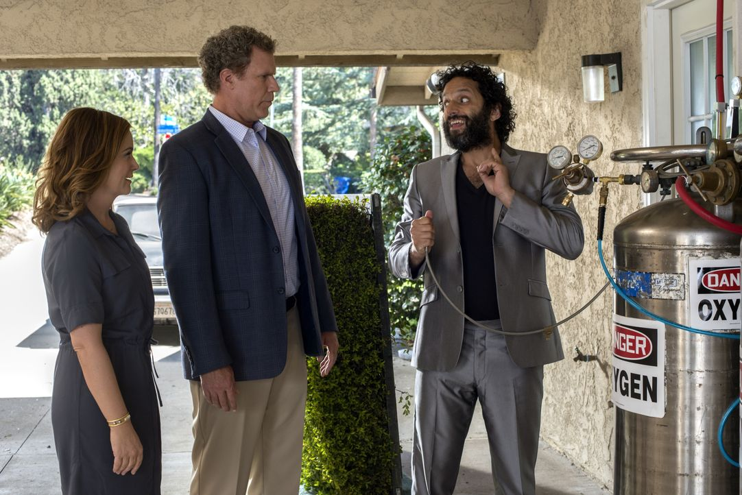 (v.l.n.r.) Kate Johansen (Amy Poehler); Scott Johansen (Will Ferrell); Frank (Jason Mantzoukas) - Bildquelle: Warner Bros.