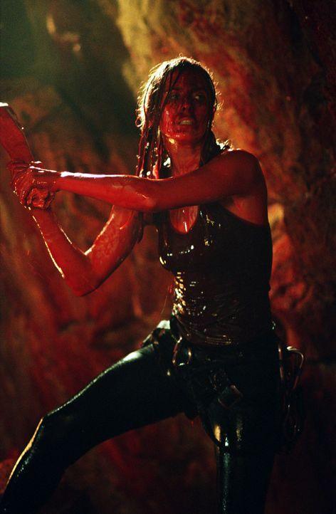 Nach einem Erdrutsch werden Sarah (Shauna MacDonald) und ihre Freundinnen in einer Höhle eingeschlossen und von einer unbekannten, blutdurstigen Sp... - Bildquelle: Square One Entertainment